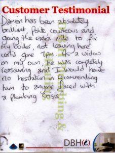 Customer testimonial Chris