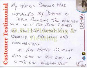 Customer testimonial Norman Holt